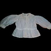 Lovely Antique Large Doll Blouse, Cloth / Papier Mache