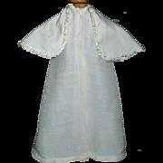 Small Silk Antique Doll Coat w Cape Collar