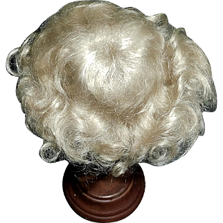 Nice Tiny Vintage Blond Mohair Doll wig