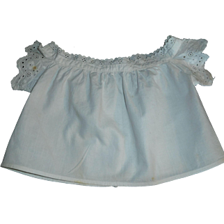 Lovely Antique Cotton Doll Bodice