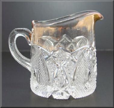 US Glass New Hampshire Breakfast Creamer Gold Gilt