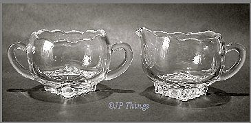 Viking Princess Plaza Individual Creamer & Sugar #5548