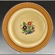 Minton Art Deco Enameled Floral Butterfly Dessert Plate