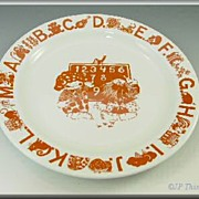 Norwegian Childs ABC Plate by Edgersund