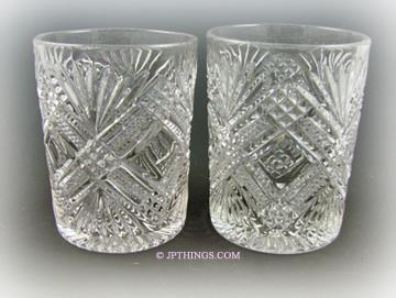 EAPG Tacoma Tumbler Pair Greensburg & National Glass Co