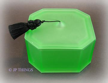 Green Frosted Graduation Hat Powder Jar with Tassel