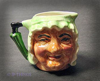 English Two Face Granny Miniature Toby Pitcher by Artone