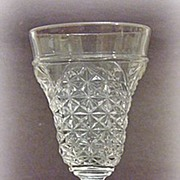 1880s EAPG Wine Glass Hour Glass Pattern