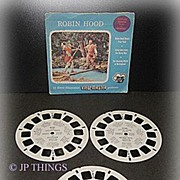 1954 Robin Hood View-Master Sawyer 3 Reel Packet Set