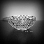 Elegant Heisey Glass Diamond Point #1454 Open Salt Open Jelly