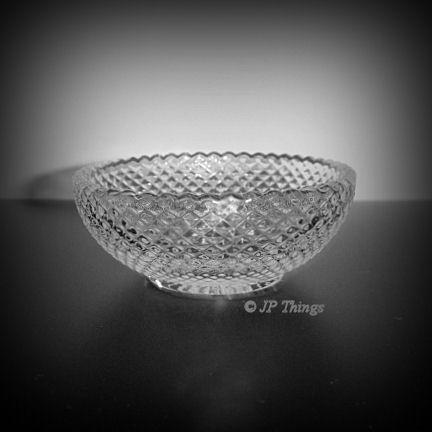 Elegant Heisey Glass Diamond Point #1454 Open Salt Open Jelly