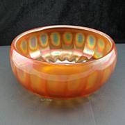Elegant Lancaster Carnival Glass Marigold Optic Ray Rose Bowl