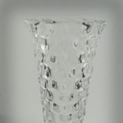 Fostoria American Glass Hexagon Flared Bud Vase
