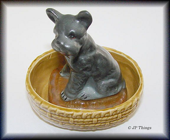 Black Scottie Dog in Basket Posey Planter