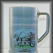 Remarkable Irish Wade Large Irish Jaunting – Car Porcelain Tankard