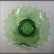 EAPG Green Northwood's Glass Poppy Variant a.k.a. Poppy Scroll Novelty Dish