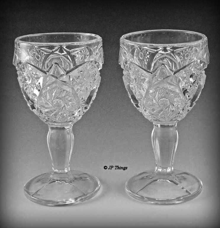 EAPG Imperial Glass No 574 Set of Crystal Wine Glass