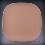 1940 Coral Franciscan Ware Pottery Metropolitan Bread and Butter Plate