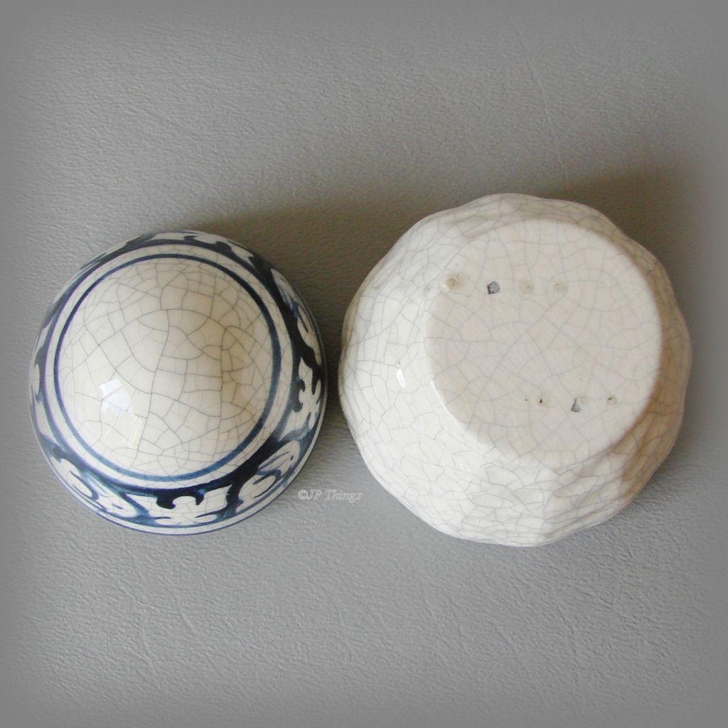 Dedham Potting Shed Pottery Egg Trinket Box Rabbit Design