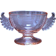 Depression Pink Westmoreland Glass Winged Sugar Bowl Line #100