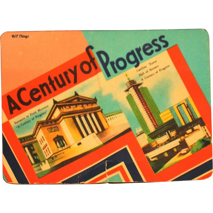 1933 - 1934 Chicago World's Fair A Century of Progress Souvenir Sewing Needle Book