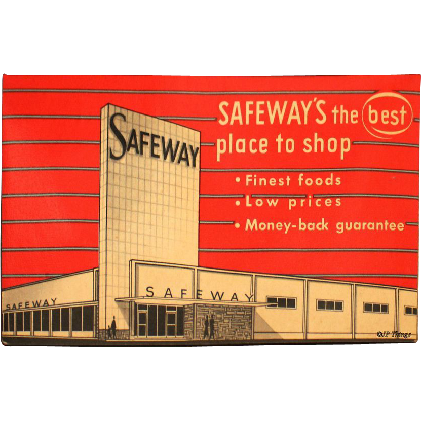 1950s Safeway Sewing Needle Book Advertising Giveaway Western Germany