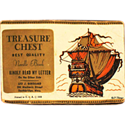 Rare 1938 Money Solicitation Treasure Chest Sewing Needle Book Leo J. Girouard