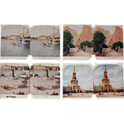 Sculptoscope Stereoview Cards Moscow, Sweden, Norway Whiting Company