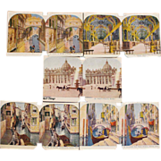 Sculptoscope Stereoview Cards Vatican Library, St Peter's Church Rome, Venice Italy