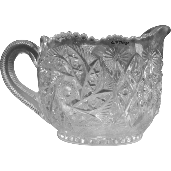 EAPG Westmoreland Specialty Glass Co Paddle Wheel aka Fern Whirl Creamer