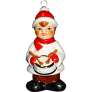 1986 Goebel Color Drummer Boy Porcelain Christmas Ornament 9th Edition