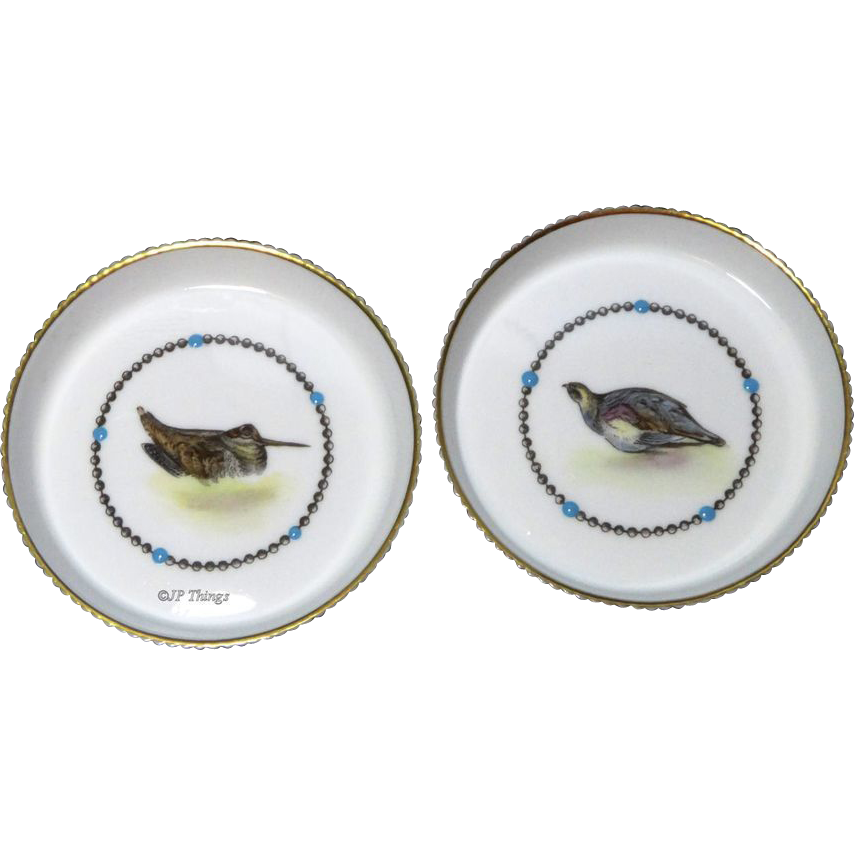Royal Worcester Hand Painted Bone China Game Bird Coasters G676