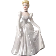 Stunning Disney Cinderella Figurine with Iridescence Dress Made in Sri Lanka