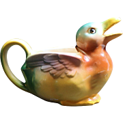 Czechoslovakian Multi Colored Duck Creamer with Czecho-slovakia Mark