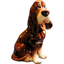 Beautiful Vintage Japan Trusty The Bloodhound Figurine from Lady and the Tramp