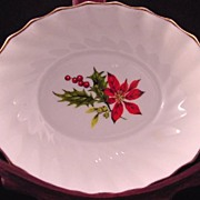 Royal Adderley Swirled Sweetmeat Dish In Poinsettia Pattern