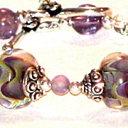 Lampwork Bracelet in Waves of Color