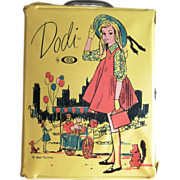 Vintage Ideal Dodi Yellow Doll Case, Tammy Doll Family, c. 1962-64
