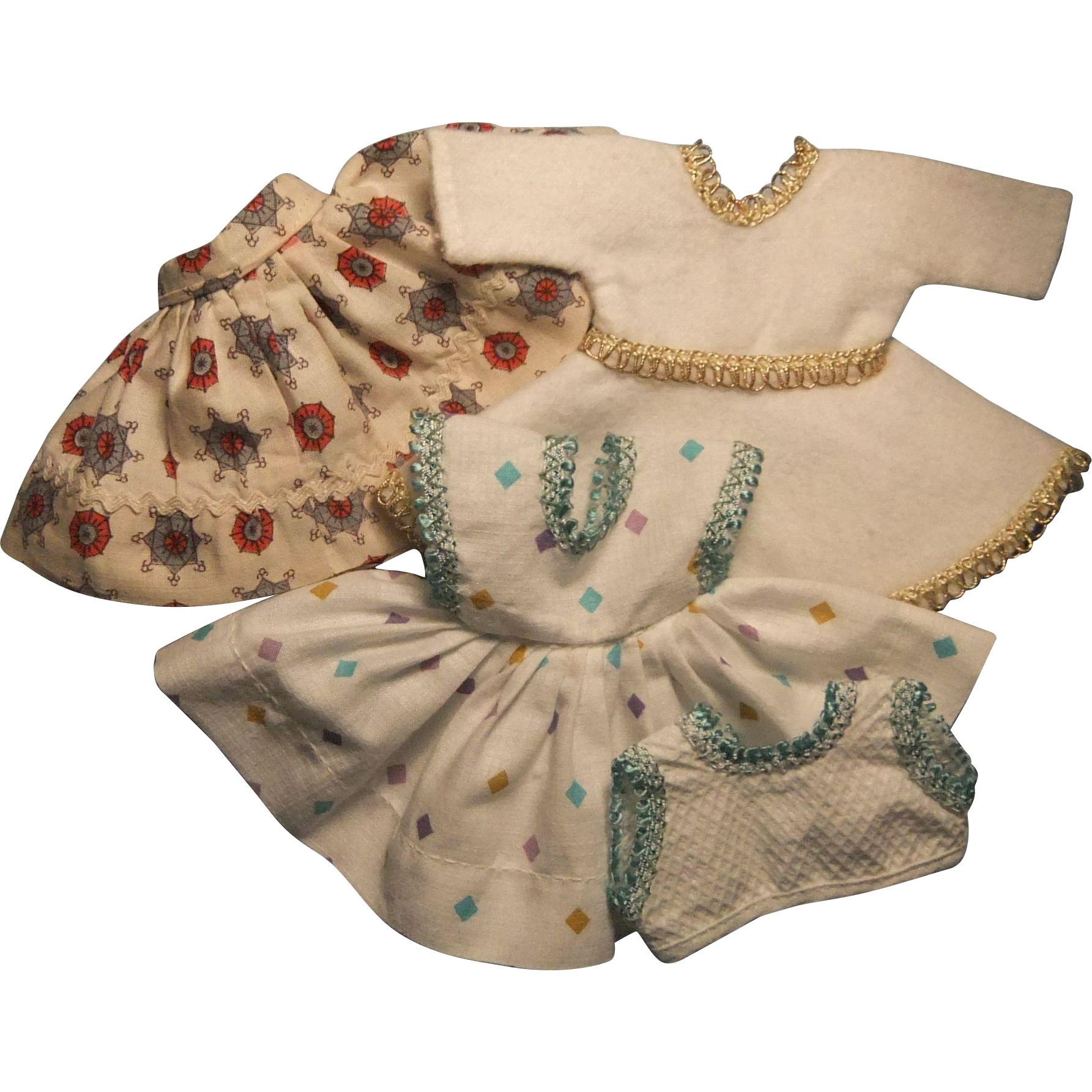 "Vintage 8"" Doll Dress Lot, 1950s"