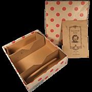 Vintage Nancy Ann Storybook Doll Box, Series Brochure, 2 Cardboard Restraints, 1948