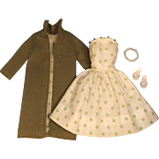 Vintage Clone Fashion Doll Dress and Coat Set, 1960s