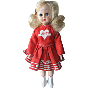 """Vintage 7 ½"""" Mary Hartline Doll, c. 1952"""