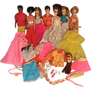 Vintage Topper Dawn Doll and Friends, Assorted Clothes and Accessories, 1970-72