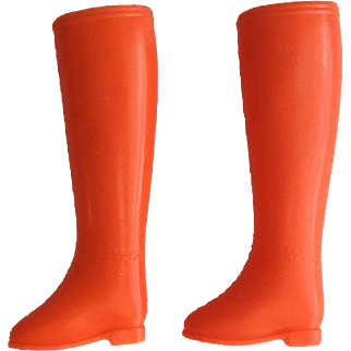 Vintage Mattel Barbie Made For Each Other #1881, Orange Boots, 1969
