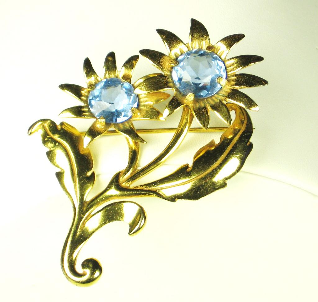 Vintage 925 Sterling Flower Pin