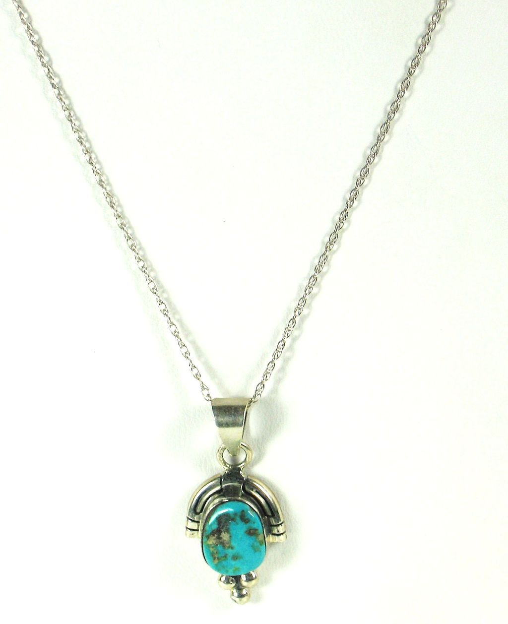Francis 925 Sterling and Veined Turquoise Necklace