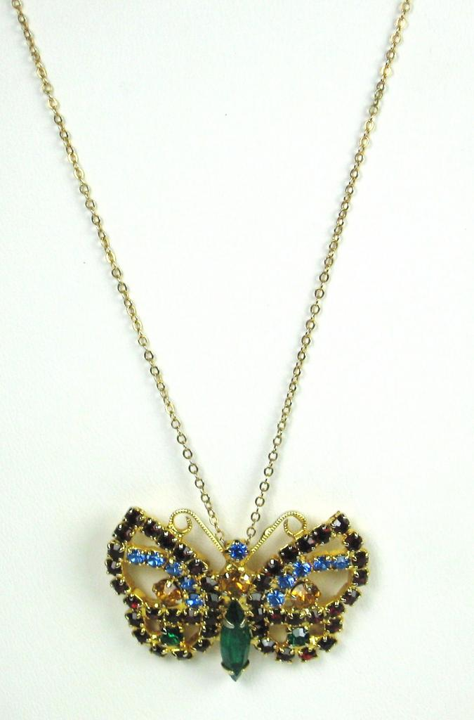 Vintage 1/20 12kt Gold Filled Butterfly Necklace