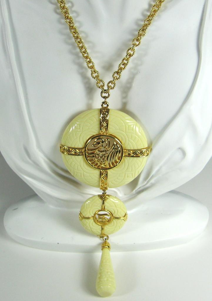 Vintage Hattie Carnegie Oriental Themed Bird Necklace