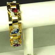 Art Deco Marquise Cut McClelland Barclay Bracelet and Pin