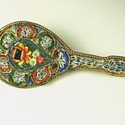 Antique Victorian Italian FAP Mosaic Mandolin Pin
